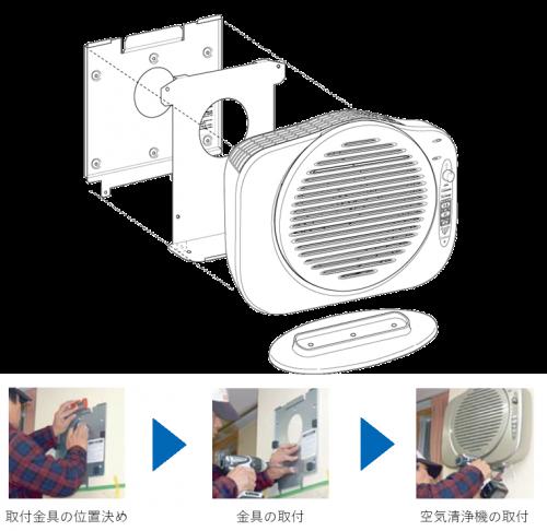 タービュランス空気清浄機 壁掛け対応可能