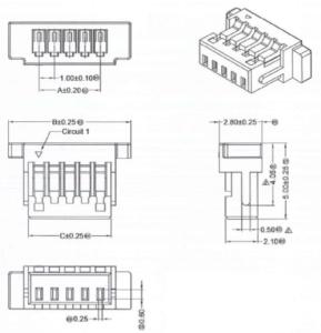 ミリ波センサ PX-USR-TSC4 コネクタ
