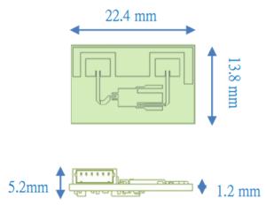 ミリ波センサ PX-USR-TSC4 外観寸法