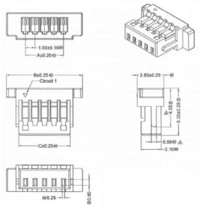 ミリ波センサ PX-USR-WSX2P コネクタ