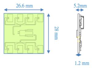 ミリ波センサ PX-USR-WSX2P 外観寸法