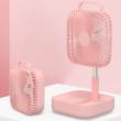 ポータブル扇風機 ピンク